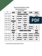 Jadwal Sekolah Aman