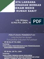 Manajemen Informasi Kesehatan 2 Pertemuan 13