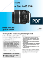 Canon EF S 17 85mm f 4 5.6 is USM Lens
