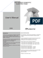 user's manual Vents series domestic electric fans.pdf