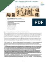 La antropología socio cultural y sus métodos