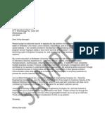 Sample Cover Letter 2013