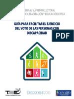 Guía Facilitar Voto PCD_2015