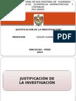 Diapositiva 3 Justificación de La Investigacion