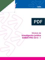 ECAES DERECHO Investigacion Juridica 2013