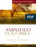 Amplified Bible Translation and Text Samples