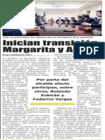 Inician transición Margarita y Adrián
