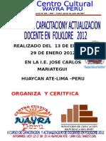 Monografias de La Danza Fiesta Patronal de San Sebastian II Concurso de Capacitacion de Docentes Wayra Peru