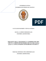 Influencia de la Velocidad y temperatura del aire en la obtención de harina de guayaba (Psidium guajava L.) con el máximo contenido de vitamina C.