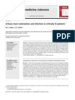 Urinary Tract Colonization and Infection in Critically Ill Patients