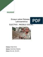Ensayo Sobre Pobrezaa en Latinoamérica