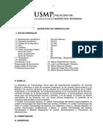 Silabo Farmacología 2015