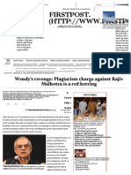 Wendy's Revenge_ Plagiarism Charge Against Rajiv Malhotra is a Red Herring