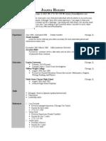 Jobswire.com Resume of joanna_rojano