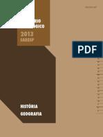 SARESP 2013_Relatório Pedagógico_Ciências Humanas