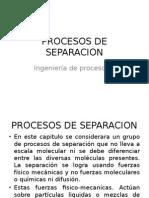 Ingenieria II Procesos de Separacion
