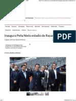 01-08-15 Inaugura Peña Nieto estadio de rayados