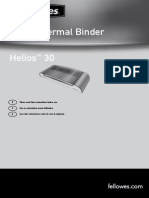 Fellowers Helios 30 Manual