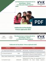 Resultados de evaluación Planea 2015