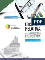 Eficiencia Relativa de La Industria Ecuatoriana1