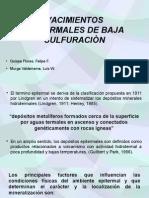 Yacimientos Epitermales de Baja Sulfuraciòn