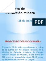 Proyectos de extracción minera