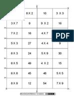 Domino Tabla Multiplicar