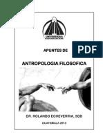 Antropologia Filosófica - Edicion 2013
