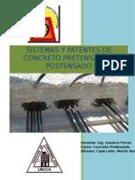 Trabajo de Sistema y Patente de concreto pretensado