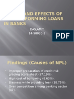 Causes and Effects of Non-Performing Loans in Banks