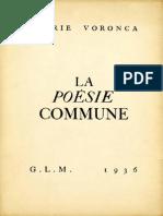 Poesie commune /  Ilarie Voronca