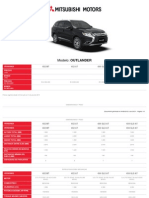 Mitsubishi Outalnder Ficha Tecnica