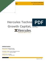 KBRA Financial Institutions Hercules Technology Growth Capital Inc. Surveillance Report