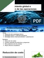 Posicionamiento Global e Integración de Las Operaciones