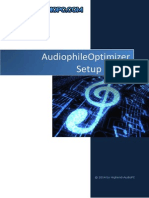 Audiophile Optimizer Setup Guide