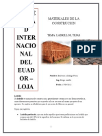 Materiales de La Cosntruccion - Ladrillo , Tejas