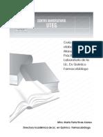 Guía Para La Elaboración de Manuales Practicas de Laboratorio en La Licenciatura de Quimico Farmacobiologo