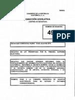 Iniciativa Reformas Electorales Guatemala 2015