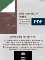 ite326 artsadvocacy music