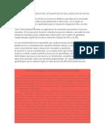 Definicion e Importancia de La Planificacion de La Educacion Inicial