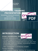 Industrial Training Presentation