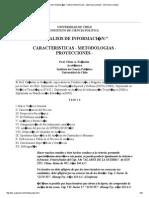 ANALISIS DE INFORMACI�N_ CARACTERISTICAS - METODOLOGIAS - PROYECCIONES