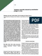 Experimental Granulomatous Vasculitis Induced by Sensitization With Ascaris Suum Antigen