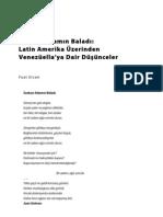 Latin Amerika Üzerinden Venezüella'ya Dair Düşünceler, Fuat Ercan