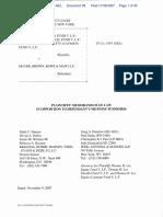 Thomas H. Lee Equity Fund V, L.P. et al v. Mayer, Brown, Rowe & Maw L.L.P. - Document No. 38
