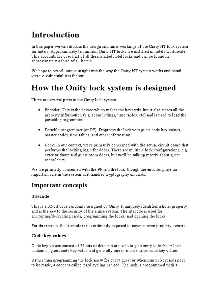 Hacking Onyx Locks With Arduino Cryptography Lock Security Device Onity Wiring Diagram