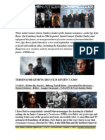 Terminator Genisys (2015) Film Review By David L. $Money Train$ Watts - FuTurXTV & Funk Gumbo Radio -  7-3-2015