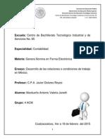 Ensayo Del Desarrollo de Las Condiciones de Trabajo en Mexico