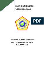 Pedoman Kurikulum d III Farmasi New 20150530
