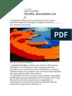 Mozzila Descontenta Con Windows 10
